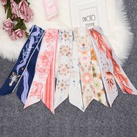Carte Taro 2019 soie d'hiver écharpe Lady impression Tie Sac poignée Ruban petit Echarpe