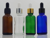 Vape 30ml 젖빛 유리 병 매트 블랙 / 클리어 / 블루 / 그린 / 앰버 드롭퍼 병 액체 ejuice 에센셜 오일 향수 병