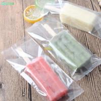 vente en gros 2000pcs Transparent dentelée en plastique de crème glacée Sac Opp Popsicle Paquet Pouch cuisson alimentaire Emballage 8 * 19cm