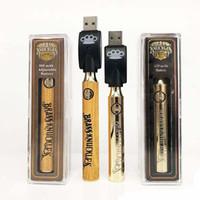 La batteria di Knuckles d'ottone più calda L'oro 650mAh di legno 900mAh La penna di Vape di tensione regolabile Ecig La batteria per 510 l'ottone Le cartucce di olio di CO2