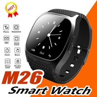montre intelligente Bluetooth M26 Q18 DZ09 Smartwatch sans fil Sport étanche Montre LED avec Alitmeter Music Player Podomètre Apple Android