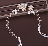 Bridal jewelry Europe and America Pearl hair band Hand-knitted headwear Bridal wedding accessories