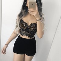New 2019 Sexy Women Sheer Lace Crop Top Push Up Bras Underwi...