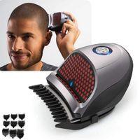 Verknüpfung Self-Haarschnitt-Kit-Haar-Clippers Glatze Kopf-Clipper-Haar-Clippers schnurlos wiederaufladbare Haarschneider-Rasiermaschine mit 9 Kämmen