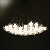 새로운 명확한 유리 버블 볼 글로브 구 샹들리에 천장 램프 고정 장치 현대 침실 바 거실 홈 조명