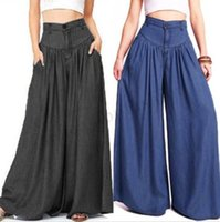 Women Pantalon Wide Legs Long Pants Casual High Waist Trousers Plus Size
