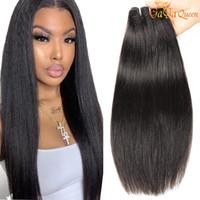 Cheap 8A vergine peruviana dei capelli diritta crespa 3 Bundle 100% estensione dei capelli umani peruviani Yaki diritto vergine peruviana dei capelli Bundles