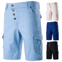 Mens Summer Travel Cool Casual Shorts Fashion New Male Slim Comfy Cargo Shorts 8 colores Extra-grande Homme