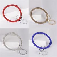 Silicone Wrap Bracelets Boucle Clé Enfant Adulte Extérieur Sports Bracelet Clés Chaînes Chaînes Strass Bracelets Anneaux Vente Chaude 9 5dm L1