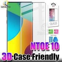 Per Samsung NOTA 10 Protezione di schermo per S10 plus Huawei P30Pro OnePlus 7 Pro Caso amichevole 3D curvo vetro temperato