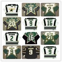 Uomini Dallas Stars Vintage 1990 CCM Hockey maglie 2 Derian Hatcher 9 Mike Modano 16 Pat Verbeek 20 Ed Belfour Tutti cucito calda di vendita il formato S-3XL