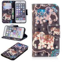 3D Dreidimensionale Handphone-Kasten für iPhone 6 Plus PU-Leder-Abdeckung Ständer mit Wallet Card Slots (Modell: iPhone6Plus / iPhone6 +)