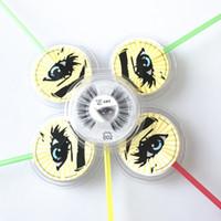 Doğal Sahte Vizon Kirpikleri Tam Şerit El yapımı Sahte Göz Kirpik Uzantıları Kalın Kirpikleri 3D Lolipop Kirpik Makyaj Güzellik Aracı