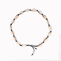 Cowrie Shell Choker Necklace for Women Gold Silver Color Fashion Jewelry Bohemia Bead Rope Chain Necklaces Statement Collier