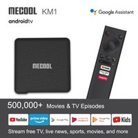 Mecool KM1 ATV 4GB 32GB Google Certified Android 10.0 TV Box Amlogic S905X3 스마트 AndroidTV 4K 듀얼 WiFi 음성 셋톱 박스