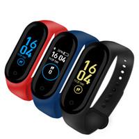 새로운 M4 스마트 팔찌 밴드 팔찌 피트니스 트래커 건강 심박수 모니터 블루투스 Smartwatch 지원 생활 방수 PK Mi Band 4