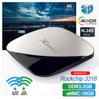 X88 Pro Smart TV BOX Android 9.0 2 GB RAM 16 GB Rockchip RK3318 Quad Core 2,4 G5 G Dual-WLAN 4 K PK X96 max