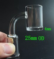 Quartz Banger 4mm Thick 25mm Quartz Nails 10mm 14mm 18mm Mal...