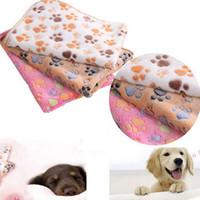 الصوف قفص الحيوانات الأليفة سرير حصيرة لينة سرير الكلب مع كلب لطيف باو المطبوعات آلة قابل للغسل الحيوانات الأليفة سرير اينر
