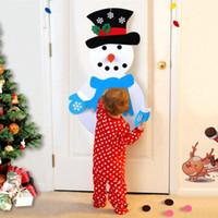 1 Set del fumetto tessuti non tessuti Snowman Feltro mestiere di DIY Divertente Artigianato Per Natale del pupazzo di neve ciondolo ornamenti No Glue
