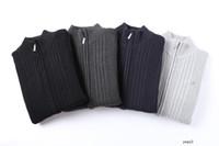 hommes lacoste broderie crocodile design hommes pull chandails à manches longues Fashion tricots lâche fermeture éclair CM5612RPID0
