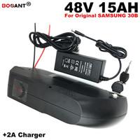 Kostenloser Versand 48 V 15AH E-Bike Lithium-Batterie-Pack für Original Samsung 18650 Zelle Elektroroller Batterie 48 V für 500 Watt Motor