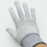 5 pares Guantes antiestáticos de la fibra de carbono Nylon Guante de trabajo Conductor de guantes a prueba de patines Pegatina de película de vinilo Instalar guantes