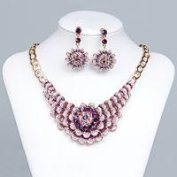 15071 Accessori da sposa Bridal Collana gioielli e orecchini Set di gioielli festa per feste di nozze Sposa