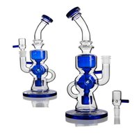 Blue Green Glass Tube Bongs Water Smoking Hookahs Glass Bong...