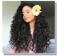 Afro Kinky Curly Sintetic Wigs Brown Explosão Cabeça Africano Longo Calor Resistente Laço Gluelês Rendas Peruca Para As Mulheres Negras FZP124