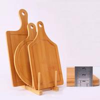 도매 보드 대형 식품 플레이트 D1294의 T03 절단 3 크기 대나무 피자 트레이 홈 베이킹 손 피자 트레이 다기능 주방 대나무