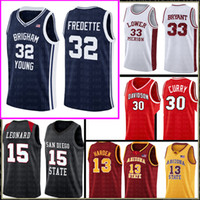 Jimmer 32 Fredette Brigham Jovem Cougars Jersey 35 Kevin Durant San Diego State Astecs College Kawhi 15 Leonard camisas