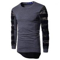 Tops Herren Designer-T-Shirts Art und Weise Tarnung mit langen Ärmeln T-Shirts mit Rundhalsausschnitt Frühlings-Herbst-Plus Size