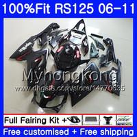 Iniezione per Aprilia RS-125 RS4 RS125 06 07 08 09 10 11 314HM.2 Stock black hot RSV125 RR RS 125 2006 2007 2008 2009 2010 2011 OEM Fairing