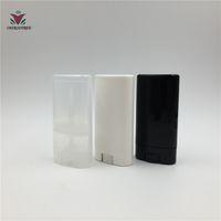 100 adet 15 ml Oval Beyaz Siyah Şeffaf Katı Parfüm Deodorant Boru Kapları Makyaj Ruj Tüpler Kapak