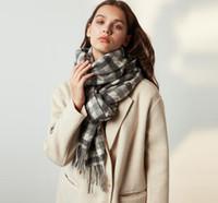 FASHION- Echarpes Automne Hiver Nouveau Femme Laine Plaid écharpe Lady large Treillis long Châle Wrap Couverture chaude Tippet