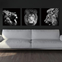 Animal lion art prints Wall Art Pictures Canvas Painting abs...