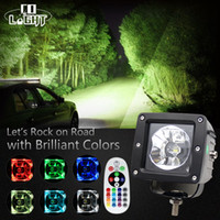 1 Pair 3 Inch 15W Led Work Light Spot Flood 1800 Lumen Rgb 1...
