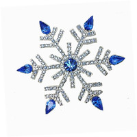 """2.68 """"Vintage Gümüş Kraliyet Rhinestone Kristal Diamante Büyük Kar Tanesi Noel Broş"""