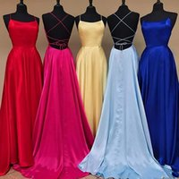 Cheap Sexy Backless Prom Dresses Burgundy Evening Gowns Sati...