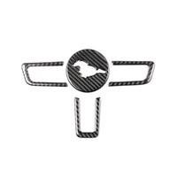 Kipalm موستانج حقيقي من ألياف الكربون عجلة القيادة شعار ل فورد موستانج ملصقات السيارات سيارة التصميم 2015-2018 موستانج ملصقات الملحقات