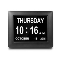 Digital Clock LED Calendar Dementia Alarm Time Date Month Ye...