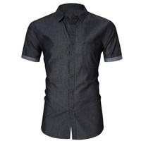 Camicia casual da uomo Dimensione US Size Cotone Mens Manica corta Camicia uomo Sociale Business Dress Camisa Masculin Chemise Homme