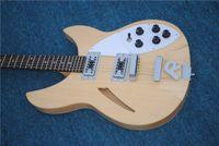 2020 Guitarra eléctrica de 6 cuerdas de alta calidad, guitarra eléctrica Ricken con parte de la parte de la cola, diapasón de palisandro, envío gratis