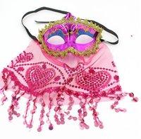 Velo Maschera di travestimento di Halloween Venezia Belly Dance Veil Maschere di carnevale del partito di ballo da sposa in pizzo Veil Maschera nuovo GGA2821