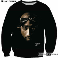 PLstar Cosmos Pullover Hip Hop Rock Sänger Männer Frauen Sweatshirt Hoodies 3D Druck 2pac Tupac Shakur Langarm Bekleidung Plus