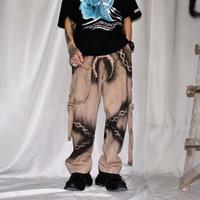 Мужские брюки Uncledonjm цепь графического груза гарема уличные мужские 2021 летние хип-хоп повседневные брюки мода мужской я-396
