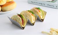 Стильный нержавеющей стали Taco Стенд держатель Taco Truck Tray Styl0e Mexican Food ротационную печь Сейф для выпечки Посудомоечная машина бесплатной доставкой