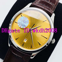 Extra-Thin MASTER 1288420 Мужские часы Swiss 9015 автоматические механические 28800 полуколебаний нержавеющей стали 316L Дата Наручные часы Sapphire кожаный ремешок
