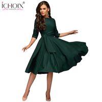 Ichoix Donne vestiti 2019 Moda Autunno Abito invernale Dress Sexy Party Dress Elegante Tube Manica Lunga Abiti da donna Abiti Vestidos de Festi Y190514